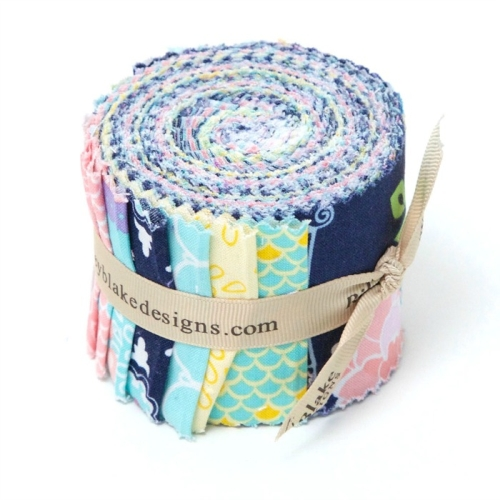 Riley Blake Designs - Lulabelle - 2.5 Inch Rolie Polie of 15 fabrics