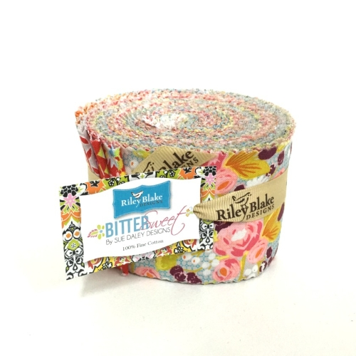 Riley Blake Designs - Bittersweet by Sue Daley - 2.5 Inch Rolie Polie of 24 Fabrics