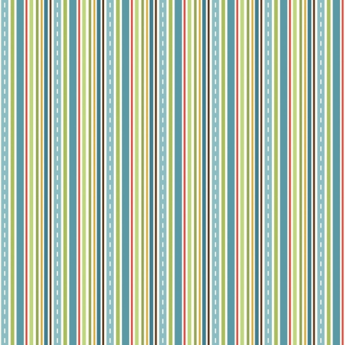 Riley Blake - Cruiser Stripe in Blue ***REMNANT 3 METRE PIECE ***