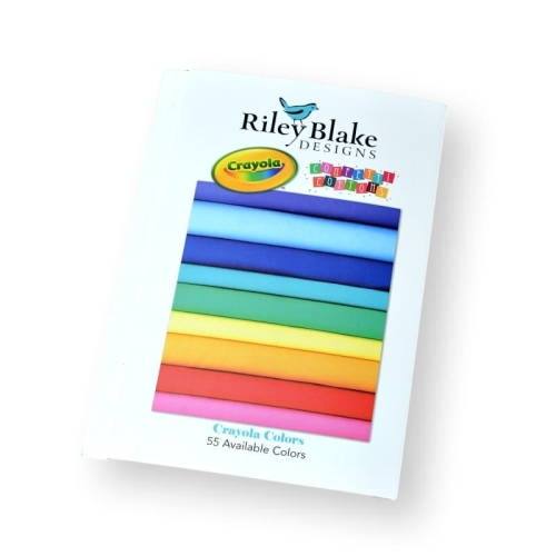 Riley Blake Designs - Confetti Cottons Solid Colour Swatch Chart - Crayola Colours