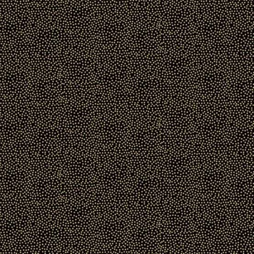 Andover - Modern Metallic Christmas - Dotty in Black