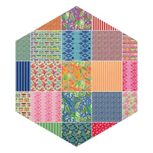 Freespirit - Tabby Road by Tula Pink - Precut Hexagon Bundle of 42 Pieces