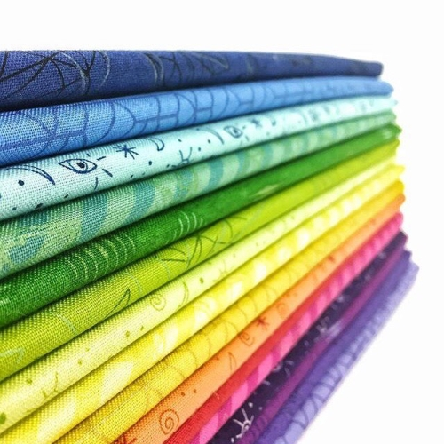 Andover Fabrics - Tattooed by Libs Elliott - Fat Quarter Bundle of 16 Pieces
