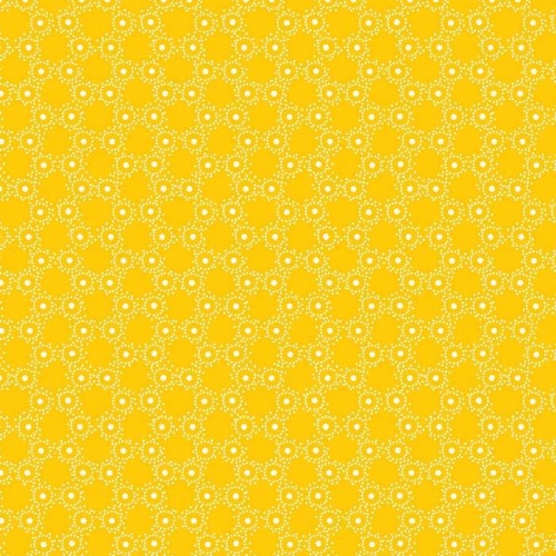 Red Rooster - Summer Cottage - Bubble Dot in Yellow
