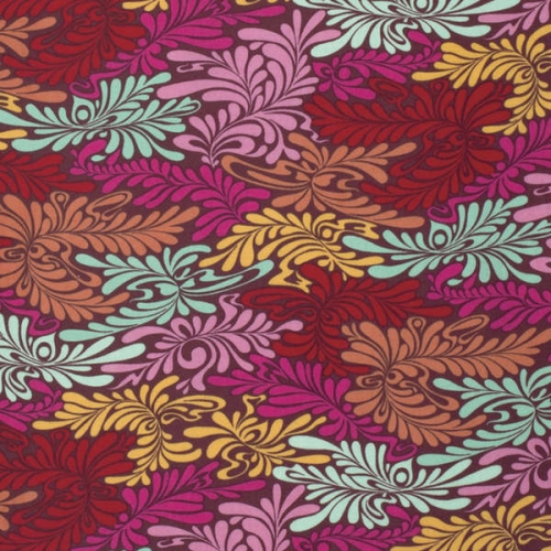 FreeSpirit - Moon Shine by Tula Pink - Camo Deluxe in Strawberry *** FAT QUARTER ***