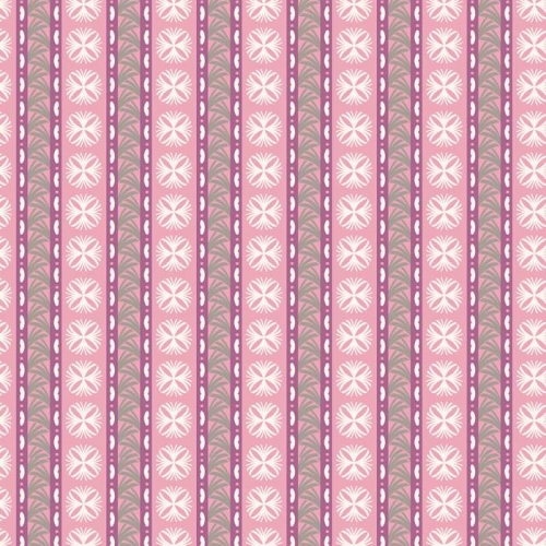 P & B Textiles - Fontaine - Fan and Medallion Stripe in Pink