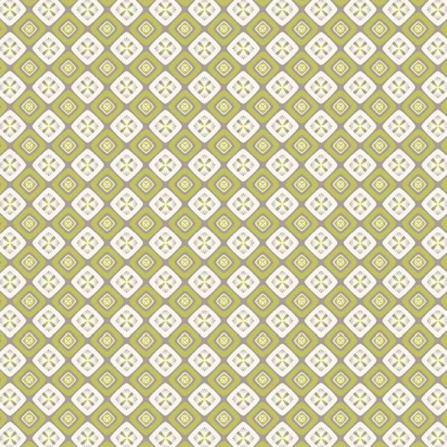P & B Textiles - Fontaine - Ornate Diamond Geo in Green
