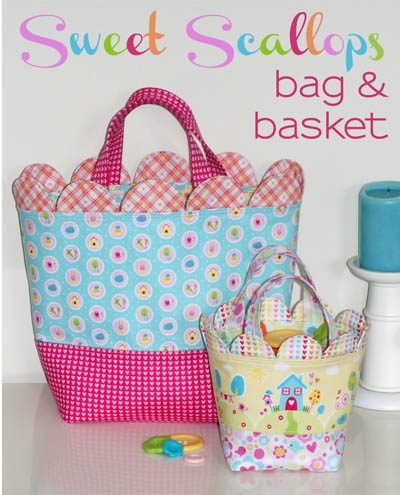 Melly and Me - Sweet Scallops Bag and Basket Pattern