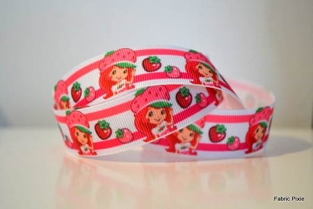 Printed Grosgrain Ribbon - Strawberry Shortcake Berries - 22mm