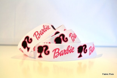 Printed Grosgrain Ribbon - Barbie - 22mm
