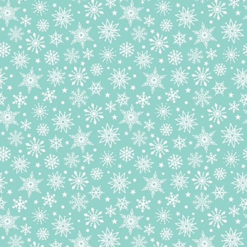 Riley Blake Designs - Merry Matryoshka Snowflakes in Blue *** FULL BOLT OF 9.1 METRES ***