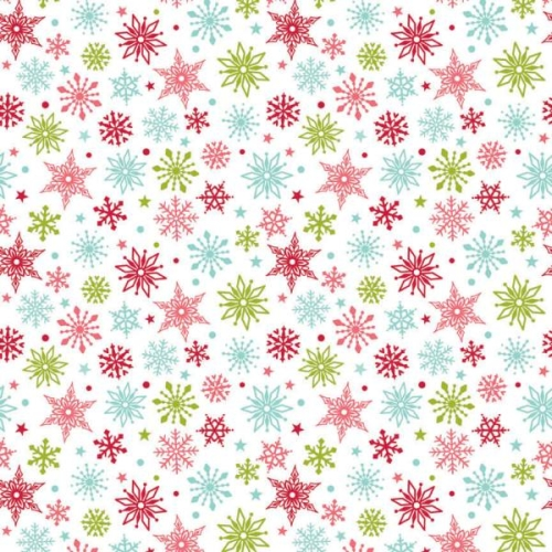 Riley Blake Designs - Merry Matryoshka Snowflakes in Multi ***REMNANT PIECE 95CM x 112CM***
