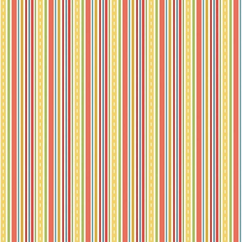Riley Blake Designs - Cruiser Blvd - Cruiser Stripe in Red *** REMNANT 3 METRE PIECE ***
