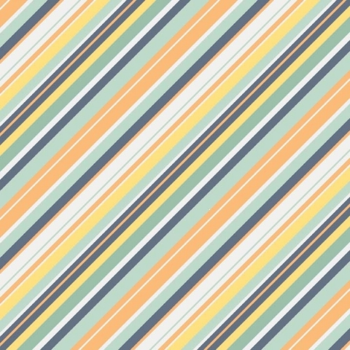 Riley Blake Designs - A Beautiful Thing - Stripe Multi Orange *** REMNANT 3 METRE PIECE ***