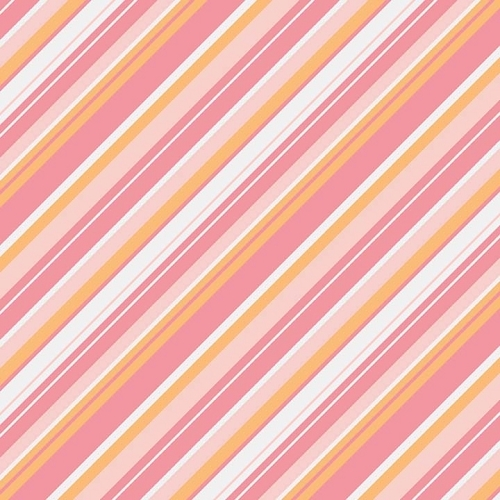 Riley Blake Designs - A Beautiful Thing - Stripe Multi Pink *** REMNANT 3 METRE PIECE ***