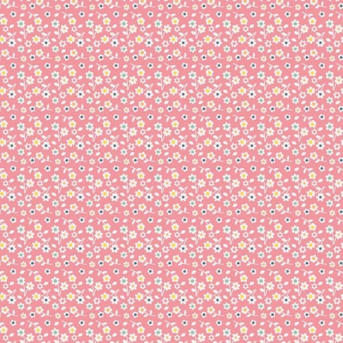 Riley Blake Designs - A Beautiful Thing - Sweet Mini Floral in Pink *** REMNANT 3 METRE PIECE ***