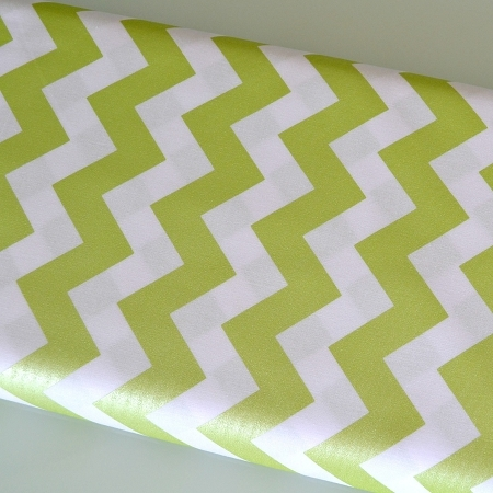 Riley Blake Designs - Hollywood Sparkle Chevron in Lime Green