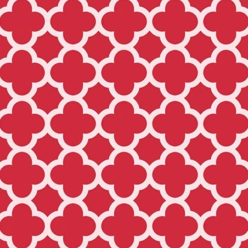 Riley Blake Designs - Sparkle Quatrefoil in Red *** REMNANT 2 METRE PIECE ***