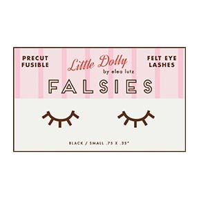 Little Dolly - Falsies - Felt Eye Lashes by Elea Lutz *** MORE ARRIVING JANUARY 2018 - SIGN UP TO THE WAITING LIST ***
