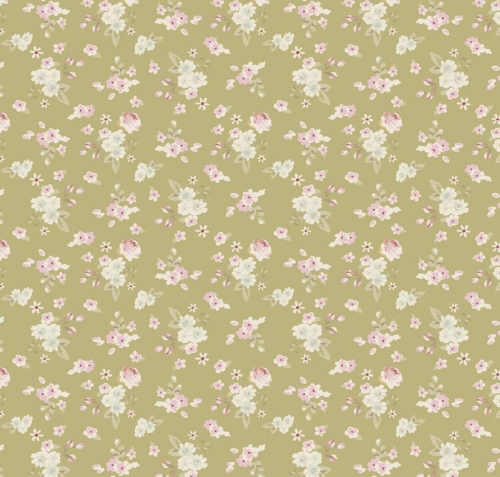 Tilda - Happiness is Homemade - Lotta Floral in Green *** REMNANT 1.32 METRE PIECE ***