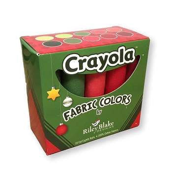 Riley Blake Designs - Crayola Holiday Fat Eighth Solid Box of 10 pieces
