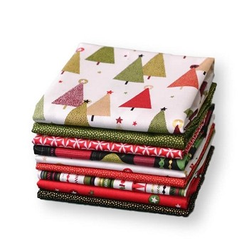 Andover Fabrics - Modern Metallic Christmas Brights - Fat Quarter Bundle of 9 Pieces