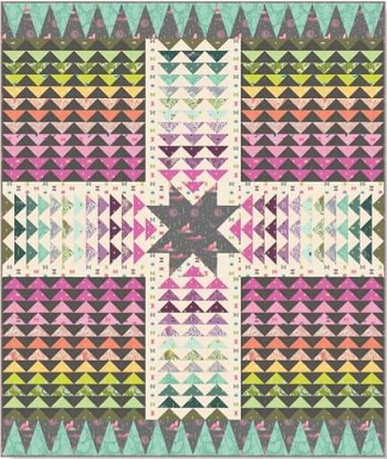 "Freespirit - Spirit Animal by Tula Pink - Wayfinder Quilt Kit 64"" x 76"" *** PRE-ORDER - ARRIVING OCTOBER 2017 ***"