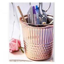 Hemline Rose Gold Thimble Sewing Notions Holder in Ceramic