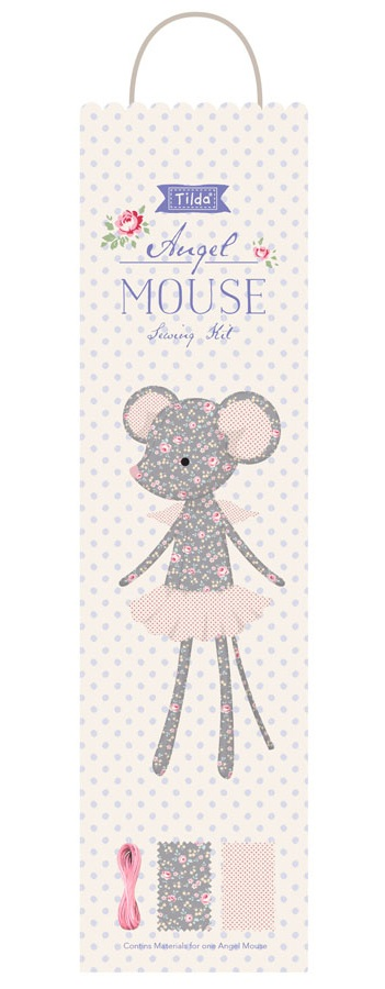 Tilda Old Rose Sewing Kit Angel Mouse
