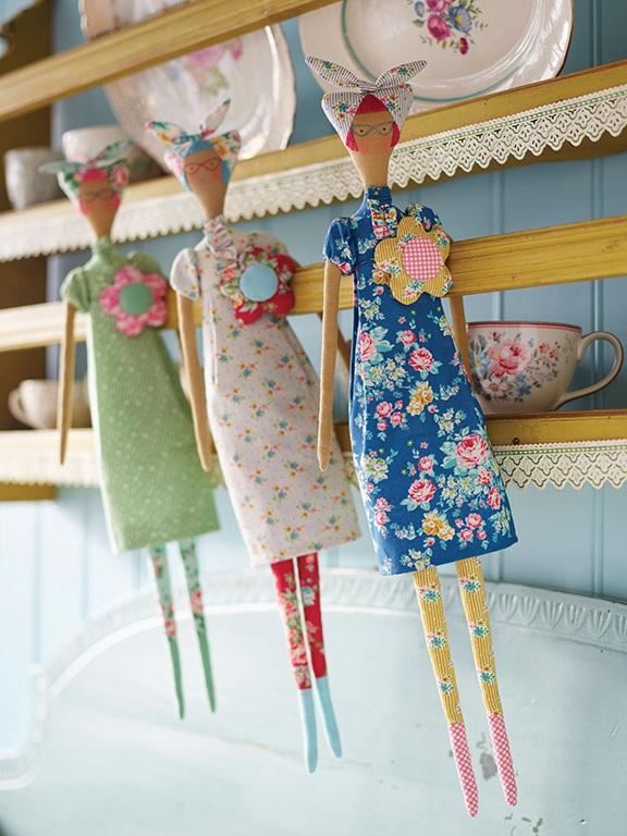 Tilda Kitschy Friend Sewing Kit Tilda 500013 Fabric Doll Kit Tilda Apple Butter Soft Doll Kit