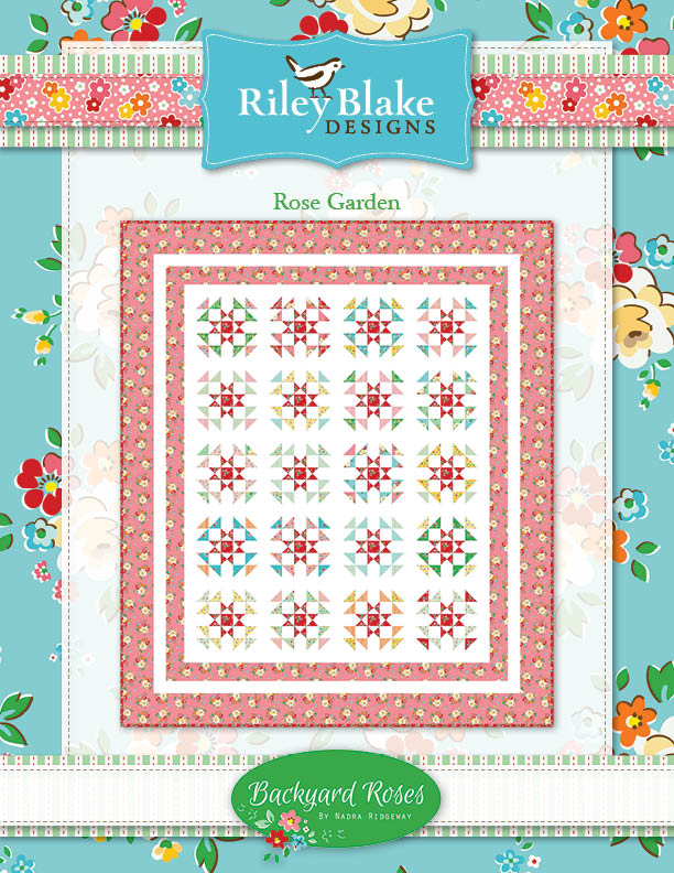 Backyard Roses Free Quilt pattern