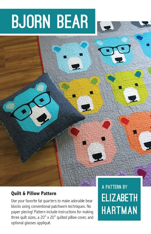 Elizabeth Hartman Bjorn Bear Quilt Pattern