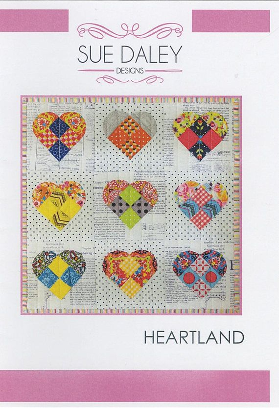 Sue Daley Designs Heartland Wall Hanging Pattern And Template And
