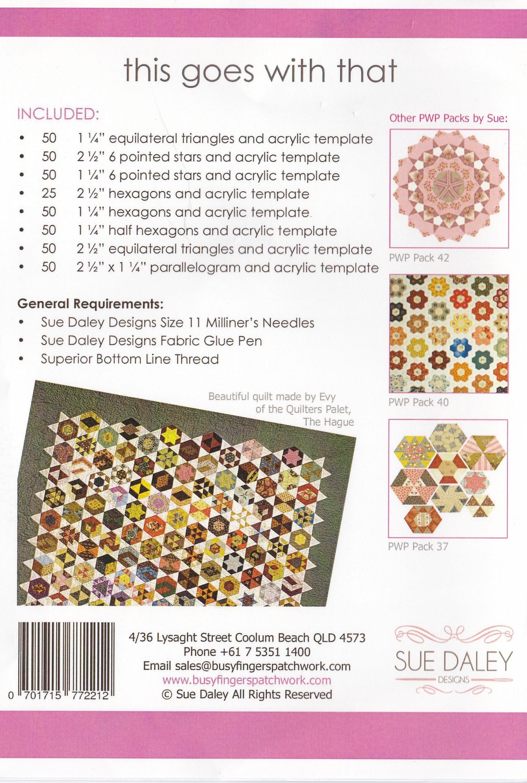 "Paper Pieces 2/"" Hexagon Templates Set of 25"