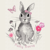 Pretty Bunnies and Flowers