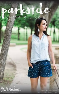 Sew Caroline - Parkside Ladies Shorts + Skirt Pattern