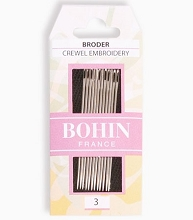 Bohin Embroidery Needles Size 3