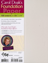 Carol Doak's Foundation Paper 100 sheets