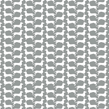 Camelot Fabrics - Dog Gone It - Grey Dog Silhouette