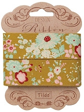 Tilda - Memory Lane Lucille Olive Ribbon 25mm