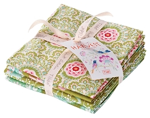 Tilda - Harvest - Fat Quarter Bundle of 5 fabrics in Green