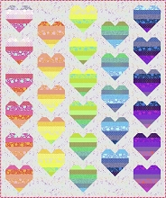 Floating Hearts Quilt Kit by Tula Pink in True Colors