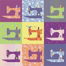 Flock of Singers Quilt Kit in Tula Pink True Colors