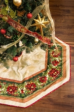 Holiday Flourish Christmas Tree Skirt Kit