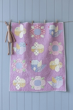 Tilda Happy Campers Adore You Baby Quilt Kit in Lavender Pink