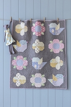 Tilda Happy Campers Adore You Baby Quilt Kit in Grey