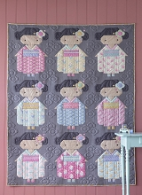 Tilda Happy Campers Kimono Girls Quilt Kit in Grey