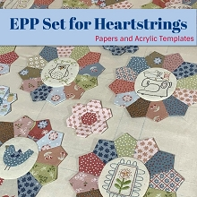 Heartstrings Quilt EPP Papers and Templates Set