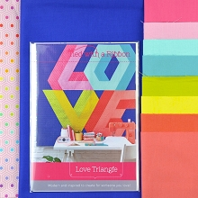 Tied with a Ribbon Love Triangle Quilt Kit