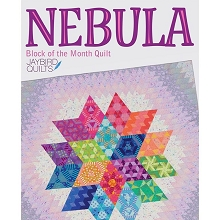 Jaybird Quilts Nebula BLOCK OF THE MONTH in Tula Pink Fabrics